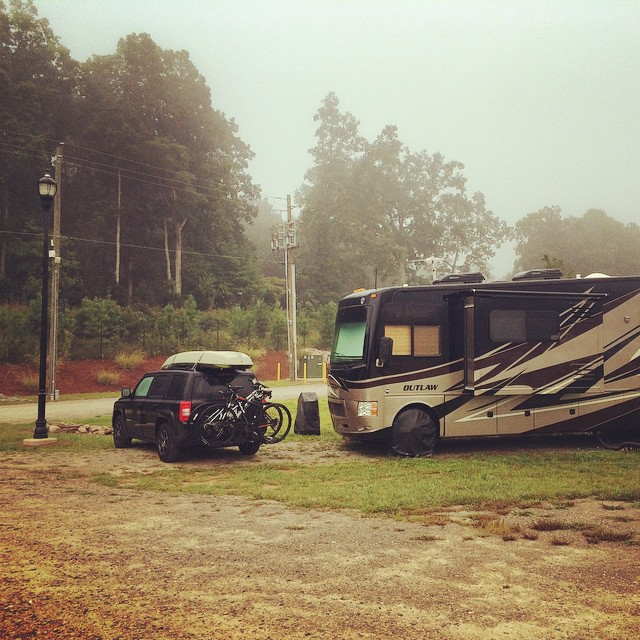 What the fog? #foggy #rvlife #raleigh